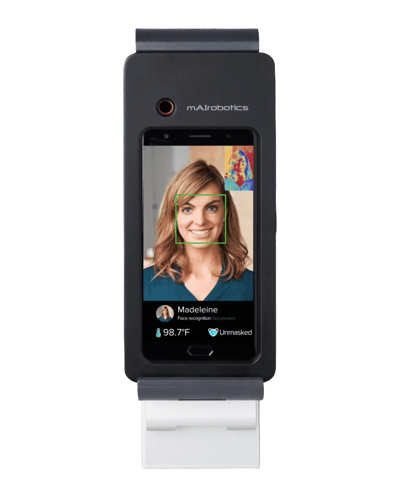 AI thermal scanner with face recognition