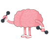 brain with weights
