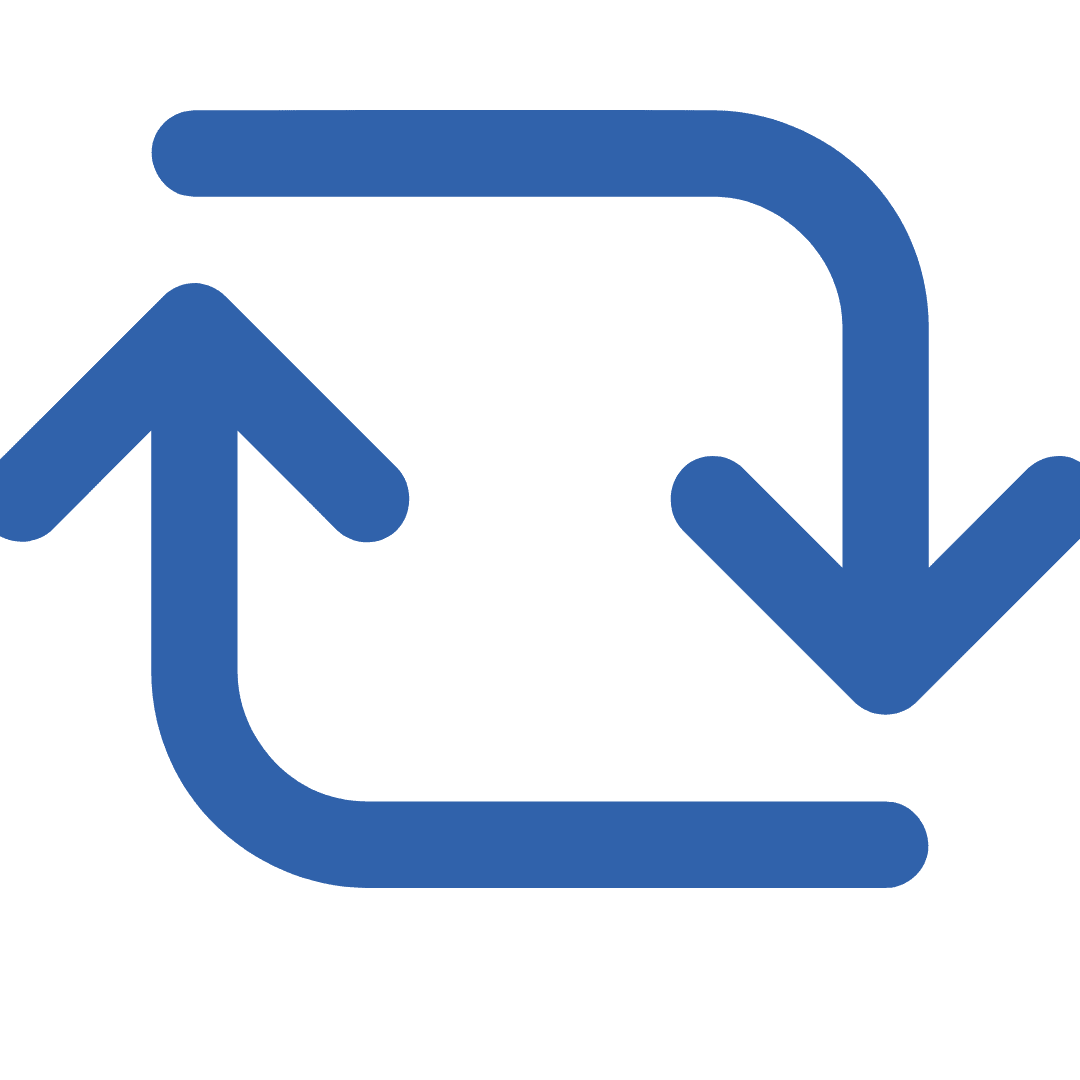 two blue rotating arrows